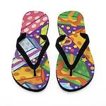 Happy Birthday Present Flip Flops