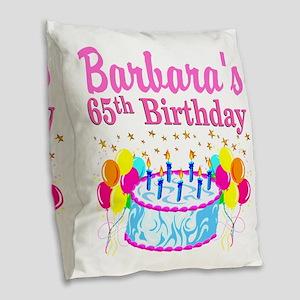 CELEBRATE 65 Burlap Throw Pillow