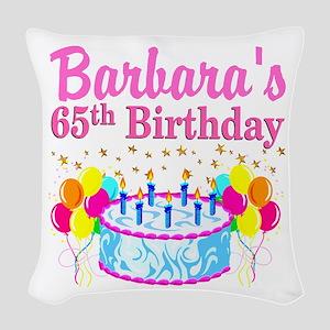 CELEBRATE 65 Woven Throw Pillow