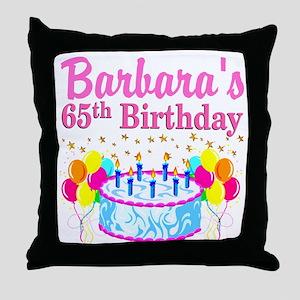 CELEBRATE 65 Throw Pillow