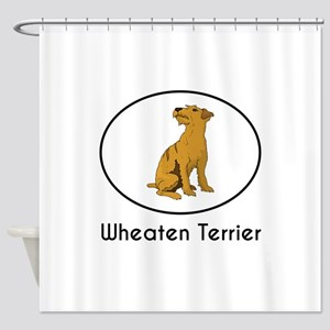 Wheaten Terrier Shower Curtain