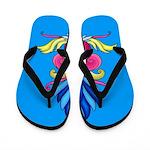 Colorful Art Deisgn Flip Flops