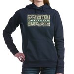 Women's Hooded Sweatshirt (dark) 1