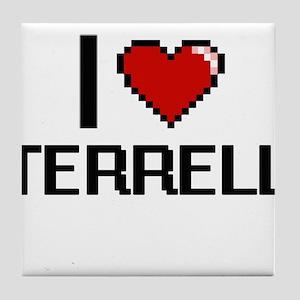 I Love Terrell Tile Coaster