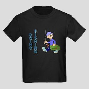 GOING FISHING Kids Dark T-Shirt