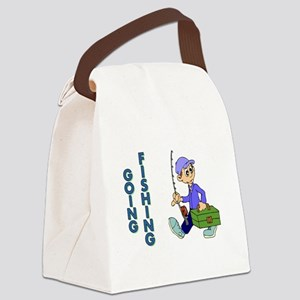 GOING FISHING Canvas Lunch Bag