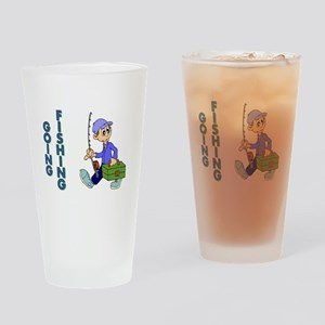 GOING FISHING Drinking Glass
