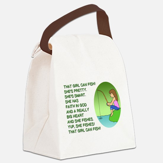 THAT GIRL CAN FISH Canvas Lunch Bag