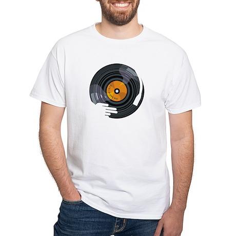 dj vinyl turntables White T-Shirt