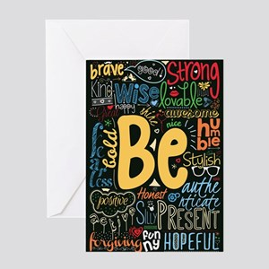 Inspirational quotes greeting cards cafepress be positive nice brave and many m greeting cards m4hsunfo