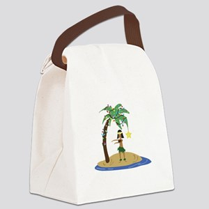 Christmas in Hawaii Canvas Lunch Bag