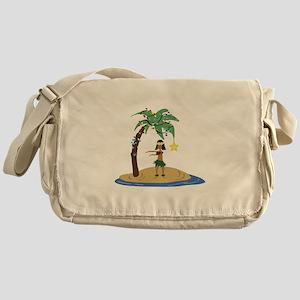 Christmas in Hawaii Messenger Bag
