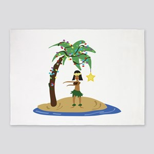 Christmas in Hawaii 5'x7'Area Rug