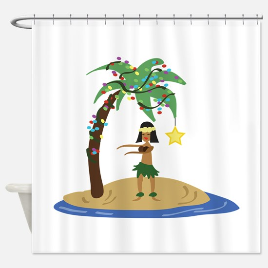 Christmas in Hawaii Shower Curtain