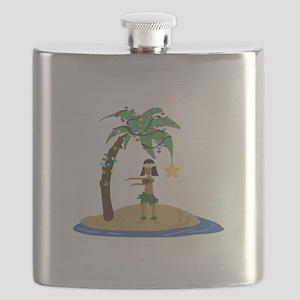 Christmas in Hawaii Flask