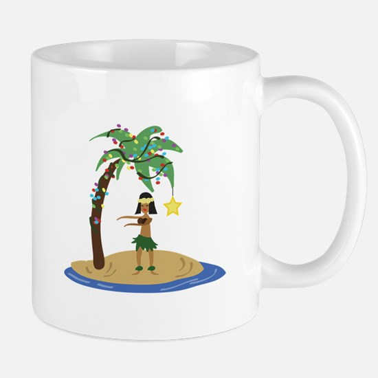 Christmas in Hawaii Mugs