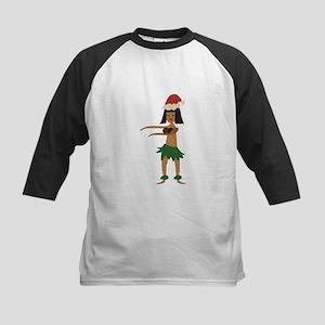 Christmas Hula Girl Baseball Jersey