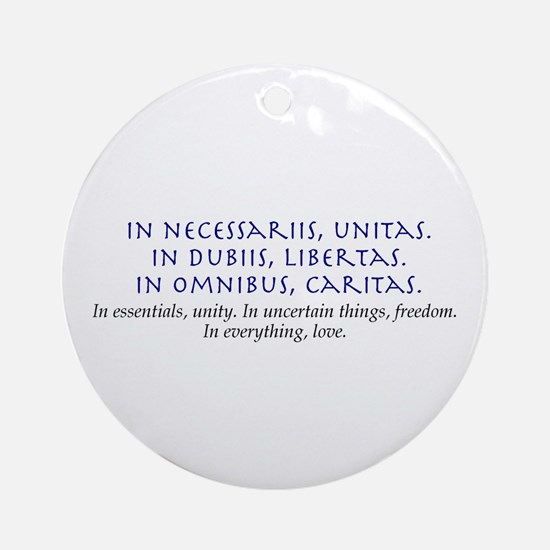 In Everything, Love Ornament (Round)