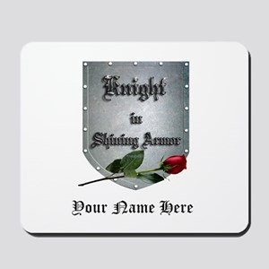 Knight In Shining Armor Rose Personalize Mousepad