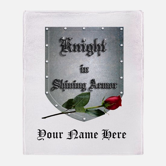 Knight In Shining Armor Rose Throw Blanket