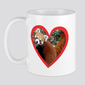 Red Panda Heart Mug