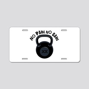 No Pain Aluminum License Plate