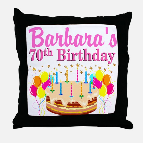 CELEBRATE 70 Throw Pillow