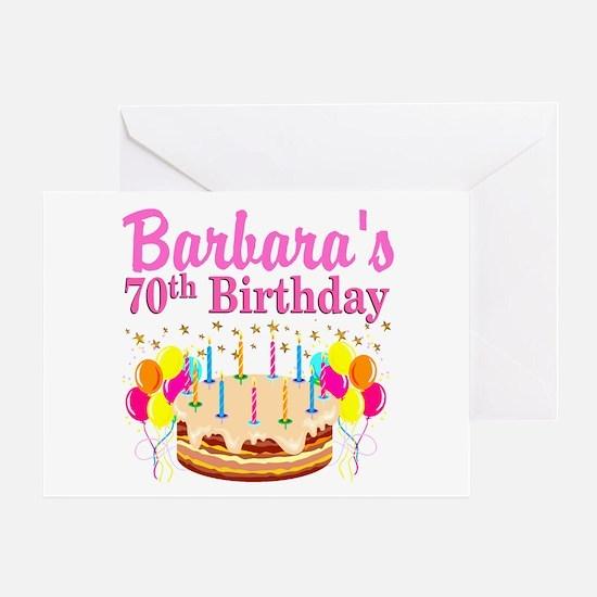 CELEBRATE 70 Greeting Card