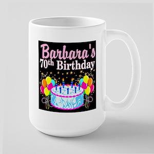 70TH PARTY GIRL Large Mug