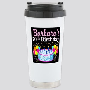 70TH PARTY GIRL Stainless Steel Travel Mug