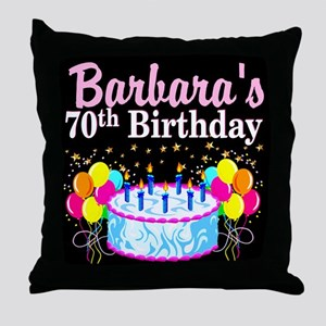 70TH PARTY GIRL Throw Pillow