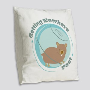 Getting Nowhere Burlap Throw Pillow