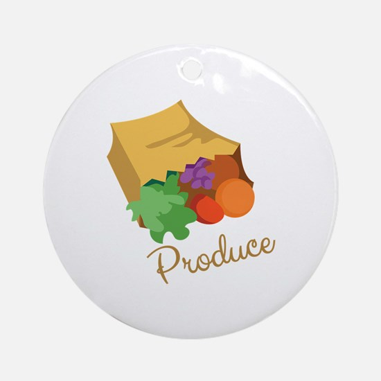 Produce Ornament (Round)