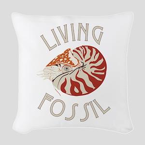 Living Fossil Woven Throw Pillow