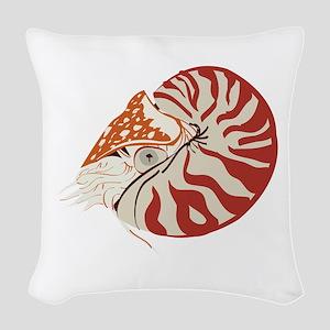 Nautilus Woven Throw Pillow