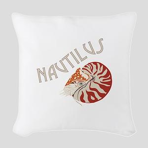 Nautilus Animal Woven Throw Pillow