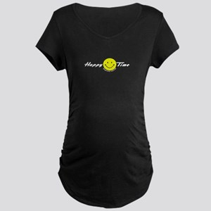 Happy Time Temp services! Maternity Dark T-Shirt
