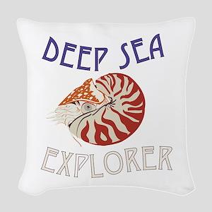 Deep Sea Explorer Woven Throw Pillow