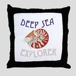 Deep Sea Explorer Throw Pillow