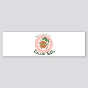 Dinner Table Bumper Sticker
