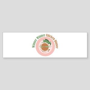 Chicken Dinner Bumper Sticker