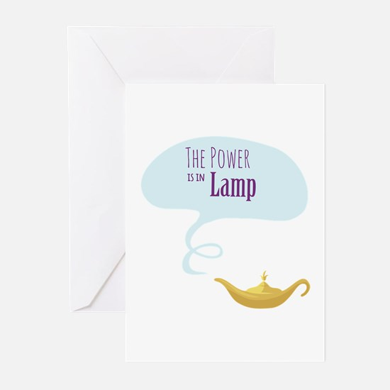 Power in the Lamp Greeting Cards