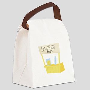 Lemonade Boss Canvas Lunch Bag
