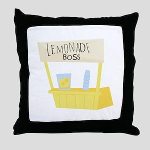 Lemonade Boss Throw Pillow