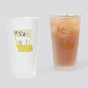 Lemonade Boss Drinking Glass