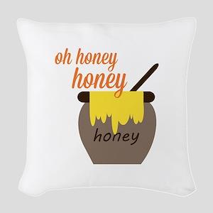 Oh Honey Woven Throw Pillow