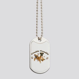 Boxer Double Trouble Dog Tags