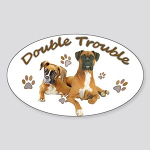 Boxer Double Trouble Sticker