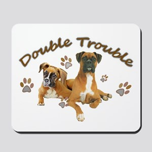 Boxer Double Trouble Mousepad
