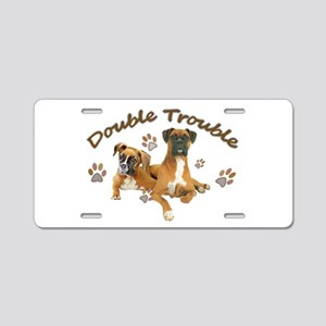 Boxer Double Trouble Aluminum License Plate